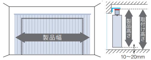 縦型ブラインド バーチカルブラインド 正面付け 採寸方法 測り方
