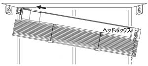 ノンビスタイプ つっぱり式 ブラインド ヘッドボックス 取り付け方法