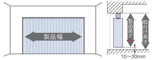 縦型ブラインド バーチカルブラインド 天井付け 採寸方法 測り方