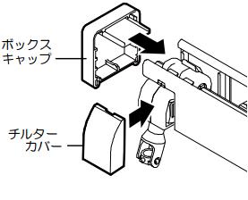 ニチベイ ワンポール式 左右位置変換方法 チルターカバー取付