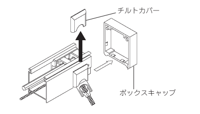 タチカワブラインド 左右転換 操作側部品の取り外し