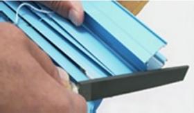 タチカワブラインド シルキー シルキーカーテン 切断部分 やすりがけ
