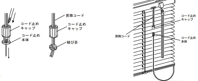 ニチベイ 昇降コード交換 手順 ポール式 ロッド式