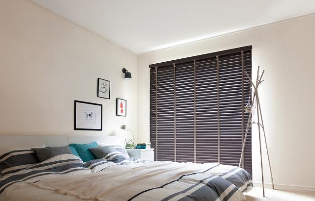 寝室 木製 ブラインド トーソー コルトウッドブラインド
