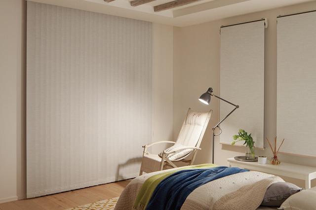 寝室 縦型 ブラインド タチカワブラインド エブリ遮光