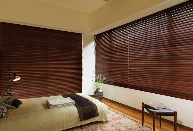 寝室 木製 ブラインド ニチベイ クレールグランツ