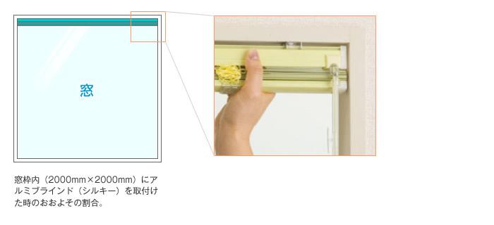 たたみ込み 横型ブラインド アルミブラインド シルキー タチカワブラインド