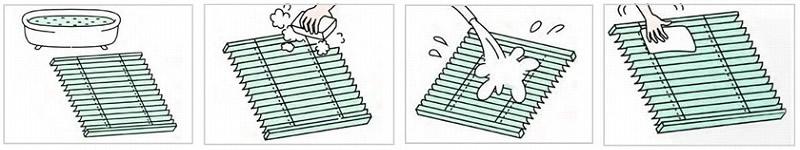 耐水性ブラインド 掃除方法 丸洗い