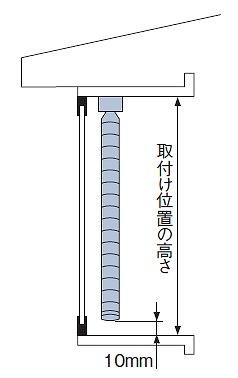 タチカワブラインド シルキー 出窓ブラインド 製品高さの測り方