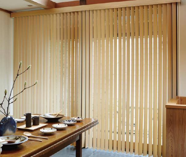 木製ブラインド ウッドブラインド 縦型ブラインド ラインドレープ タチカワブラインド