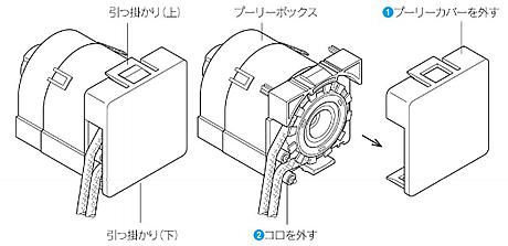トーソー TOSO 木製ブラインド ウッドブラインド 左右操作変換方法 プーリーカバーを取り外す