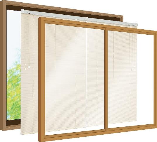 内窓ブラインド 構造