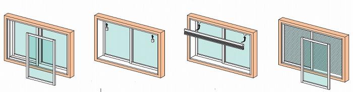 内窓ブラインド 取り付け方法