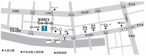 ブラインド 福岡ショールーム 地図