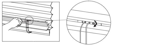 プリーツスクリーン タチカワブラインド ゼファー フィーユ 高さ調整機能