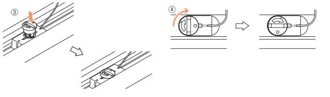 ニチベイ もなみ プリーツスクリーン 生地交換方法 高さ調整ダイヤルを固定する