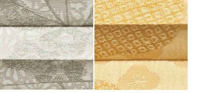 タチカワブラインド プリーツスクリーン ゼファー フィーユ 光で柄が変わる カーテンのような質感