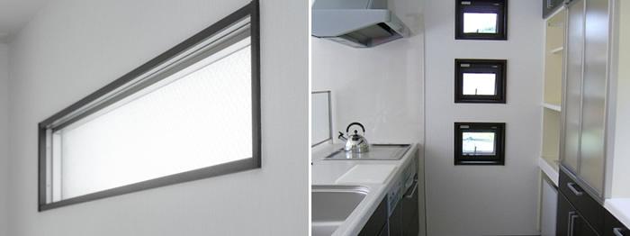 小窓 デメリット 夏は日差しが入る 冬は気密性が劣る 既製品が合わない