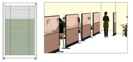 ニチベイ nichibei ローパーティション OFS-SCENE バリエーション プリーツスクリーン内蔵パネル