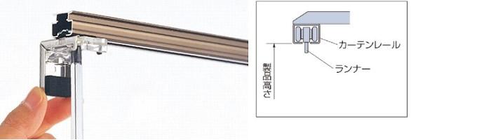 プリーツスクリーン 採寸方法 測り方 カーテンレール取付 メーカーで可否が異なる
