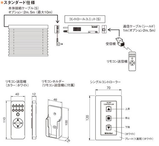 ニチベイ プリーツスクリーン もなみ 電動式 スタンダード仕様 リモコン操作