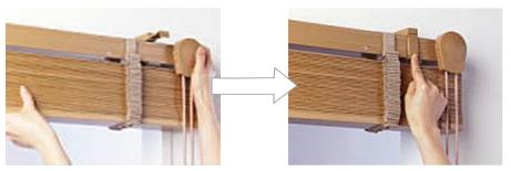 タチカワブラインド 木製ブラインド フォレティア 旧式 取付け 製品を取付ける