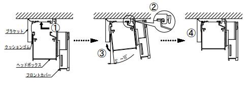 タチカワブラインド フォレティア 木製ブラインド 取付け方法 製品を取り付ける 天井付