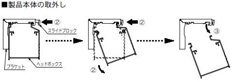 タチカワブラインド フォレティア 木製ブラインド 取外し方法 製品を取外す