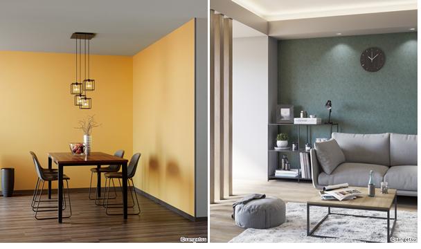 色の効果 進出色 暖色 壁が迫って見える 後退色 寒色 壁を遠く感じる