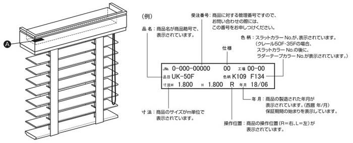 ニチベイ 木製ブラインド 昇降コード交換方法 メンテナンスシール位置 昇降コードを必要な長さ購入する