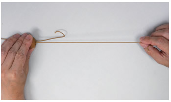 ニチベイ 木製ブラインド 昇降コード交換方法 結び目を解き、コードを引きながら、新しいコードと抜き替える