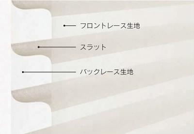 調光ロールスクリーン ニチベイ ハナリ モデルチェンジ 不透明生地・レース生地3層の生地から構成 調光可能 プライバシー保護