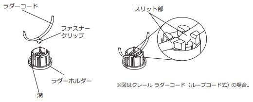 ウッドブラインド クレール ニチベイ 丈詰め方法 ラダーホルダーをボトムレールに取り付ける