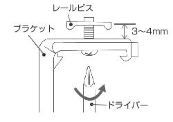 カーテンレールにブラインド用のブラケットを取り付ける前の下準備