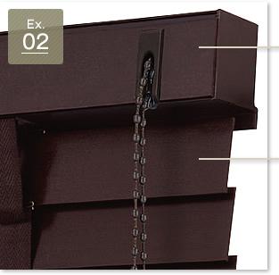50mm幅・ラダーテープ・スラットカラーマットチョコレートブラウン