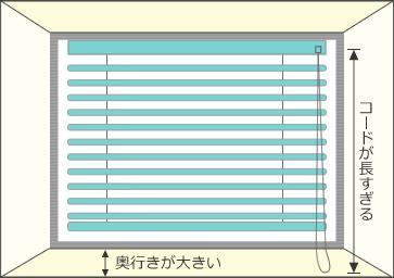出窓タイプや奥行きが大きい場合は下記表をご参照ください